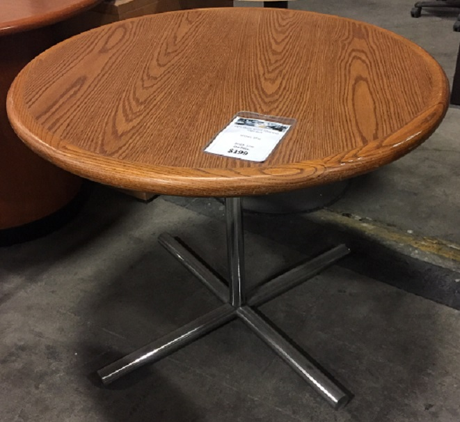 ROUND DINING TABLE W/BULL NOSE EDGE