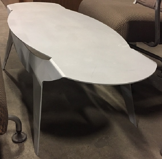 SOLID METAL COFFEE TABLE
