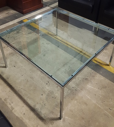 CLASSIC FLORENCE KNOLL GLASS COFFEE TABLE