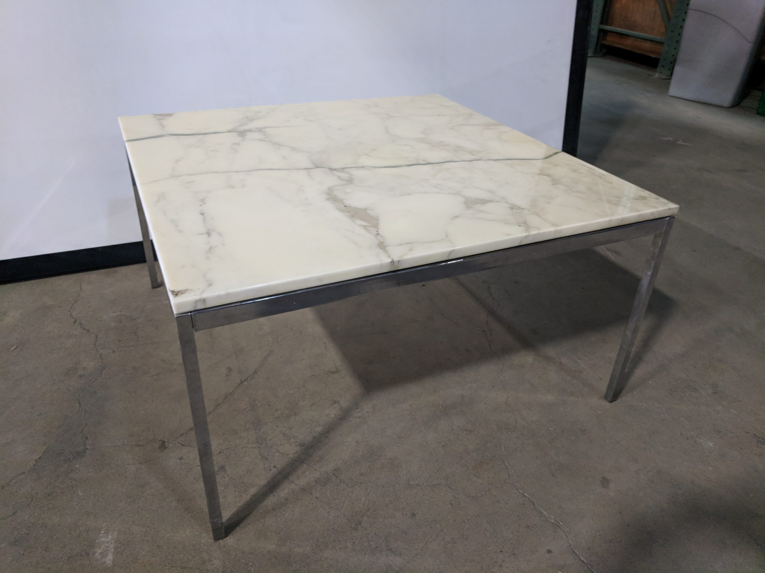 CLASSIC FLORENCE KNOLL MARBLE COFFEE TABLE