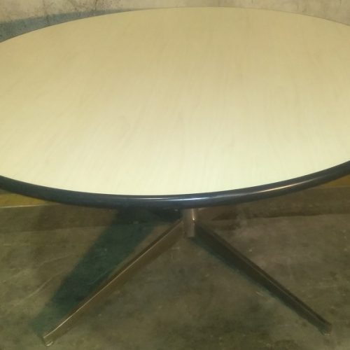 STEELCASE LAMINATE ROUND TABLE