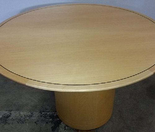CREATIVE WOOD VENEER ROUND TABLE