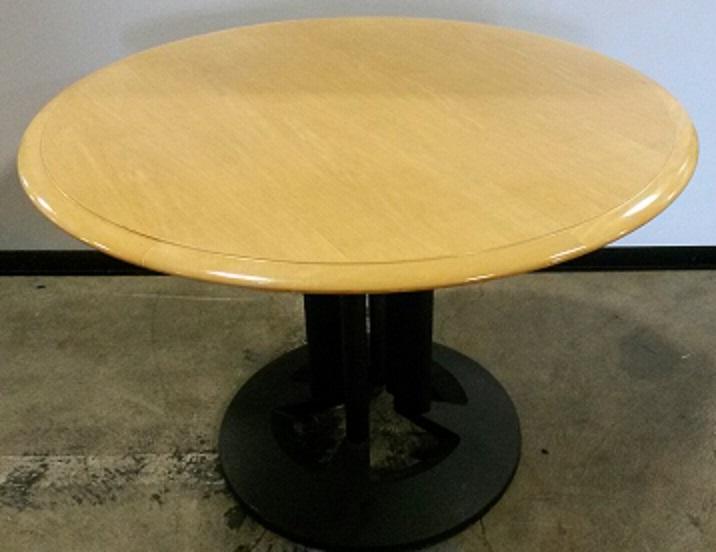 STEELCASE VENEER ROUND TABLE