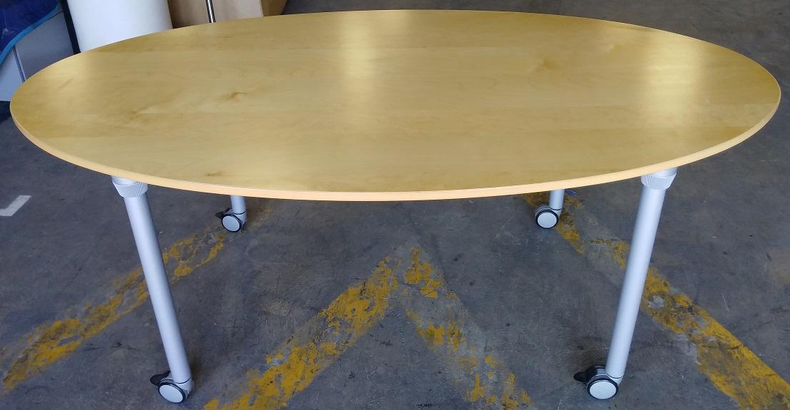 IKEA MOBILE LAMINATE OVAL TABLE