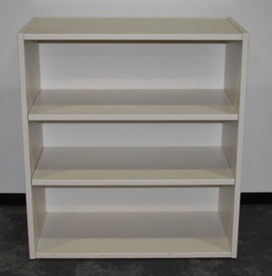 Incredible Teknion 3 Shelf Bookcase White Laminate Adjustable Shelves 36Wx18Dx40H Download Free Architecture Designs Rallybritishbridgeorg